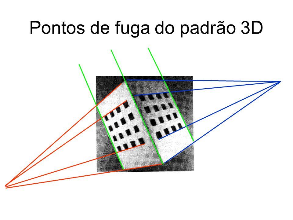 Pontos de fuga do padrão 3D