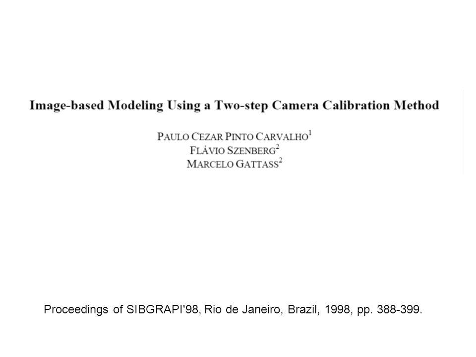 Proceedings of SIBGRAPI'98, Rio de Janeiro, Brazil, 1998, pp. 388-399.