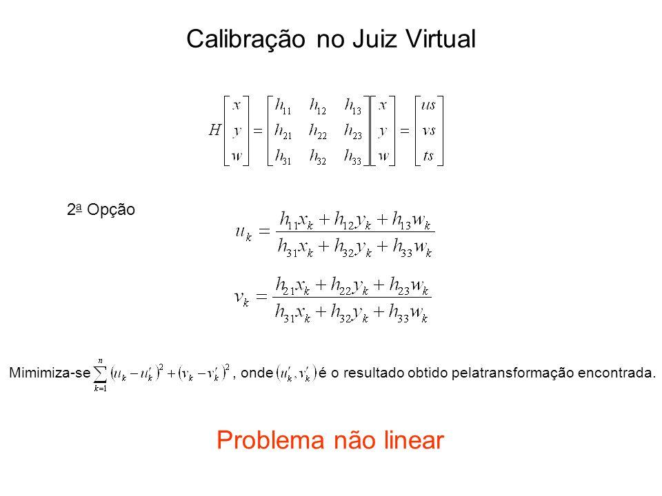 2 a Opção Mimimiza-se, onde é o resultado obtido pelatransformação encontrada. Problema não linear