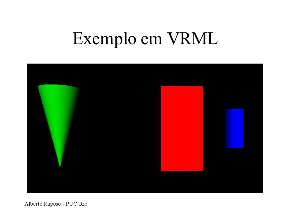 Alberto Raposo – PUC-Rio Exemplo em VRML