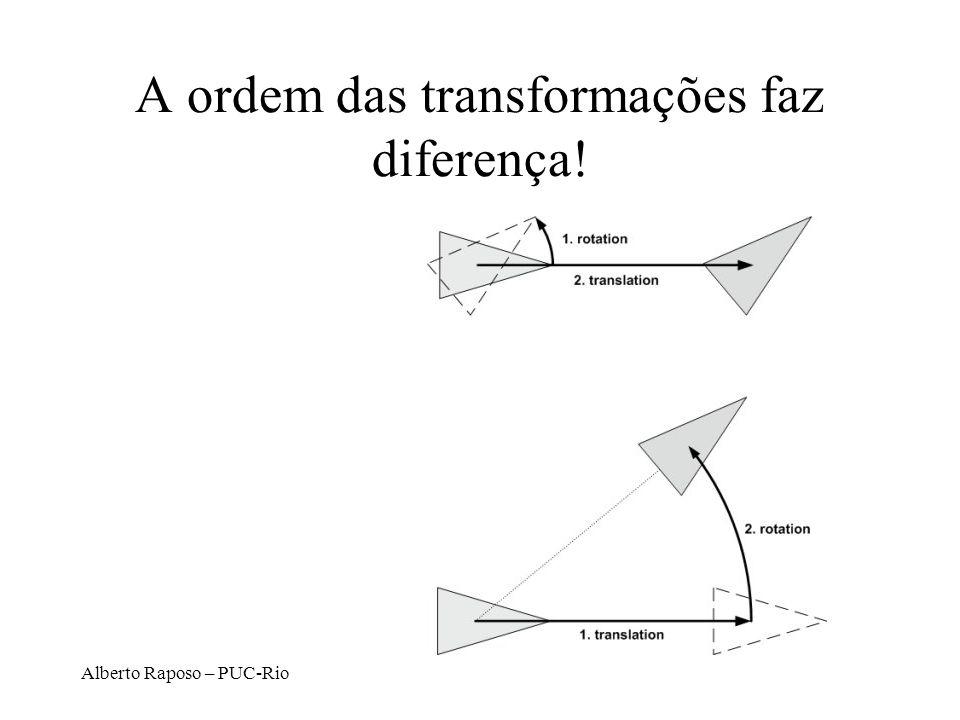 Alberto Raposo – PUC-Rio A ordem das transformações faz diferença!