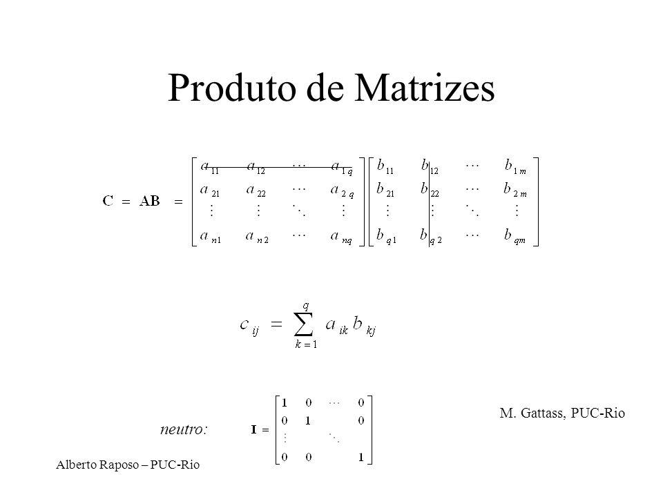 Alberto Raposo – PUC-Rio Produto de Matrizes neutro: M. Gattass, PUC-Rio