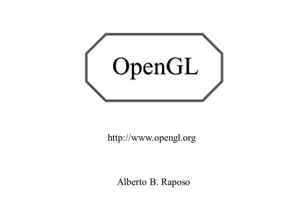 Pipeline OpenGL Como uma aplicação faz chamadas às funções API OpenGL, os comandos são colocados em um buffer de comandos.
