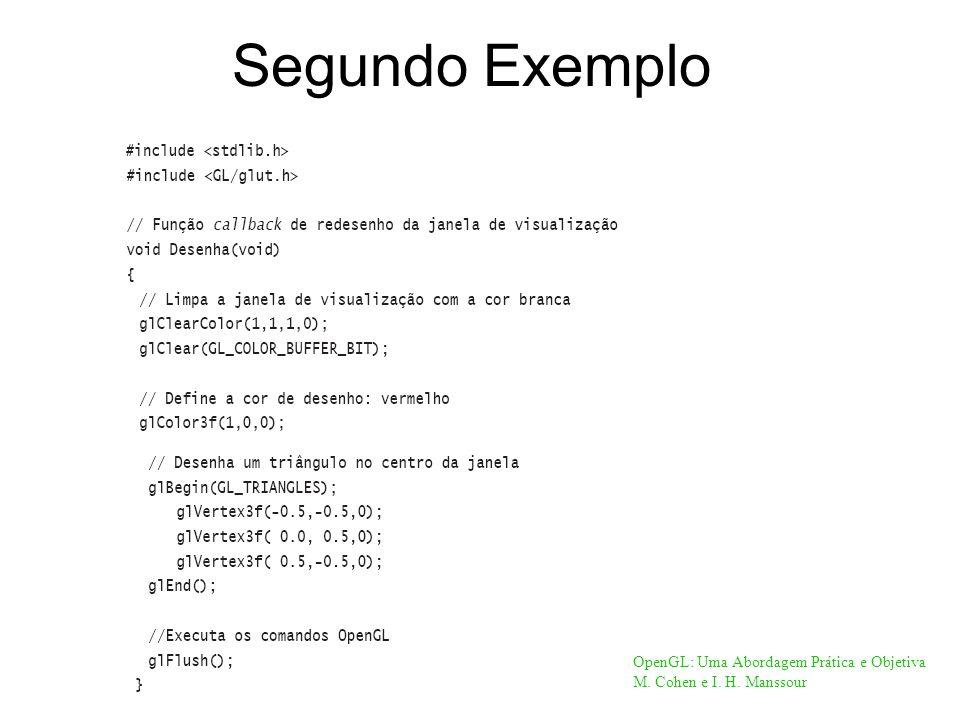 Segundo Exemplo OpenGL: Uma Abordagem Prática e Objetiva M. Cohen e I. H. Manssour