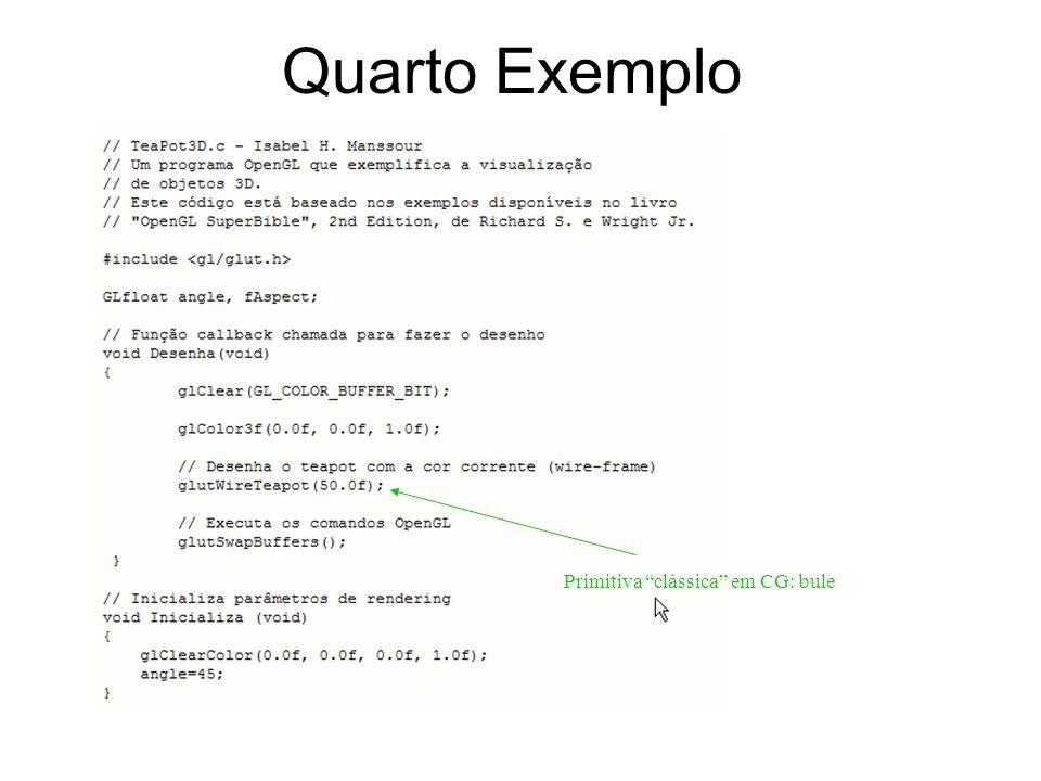 Quarto Exemplo Primitiva clássica em CG: bule