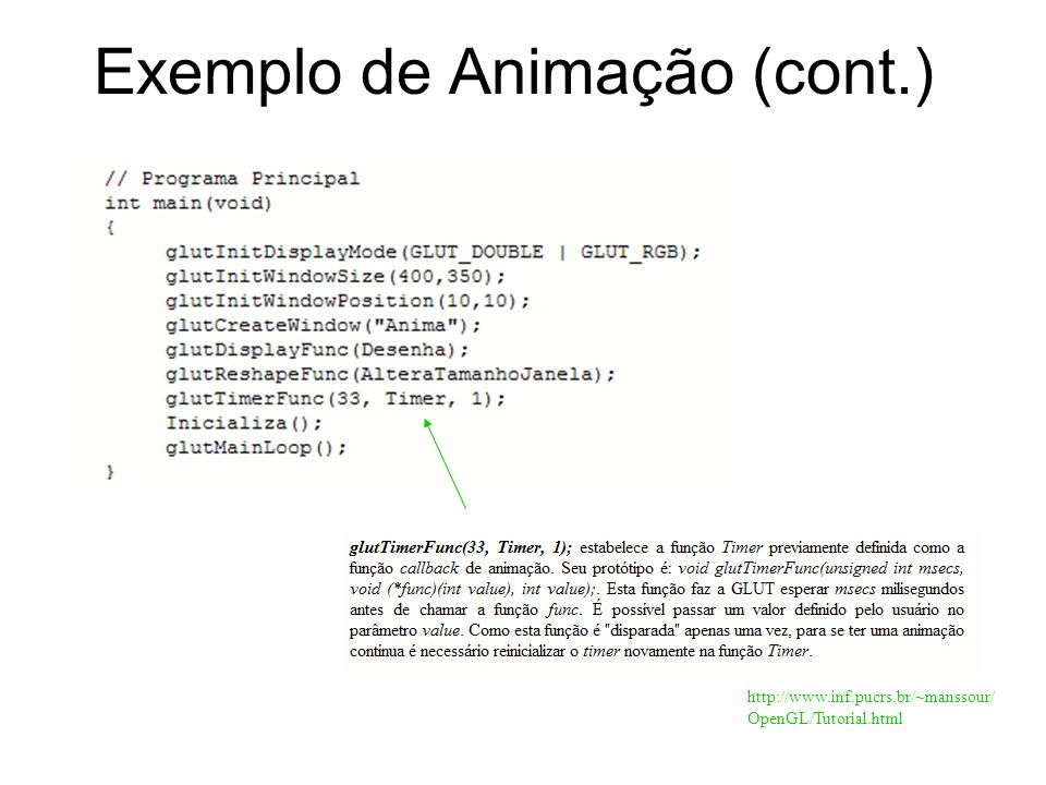 http://www.inf.pucrs.br/~manssour/ OpenGL/Tutorial.html