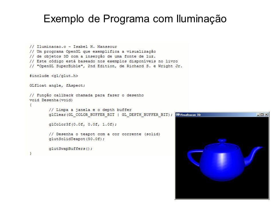 Exemplo de Programa com Iluminação