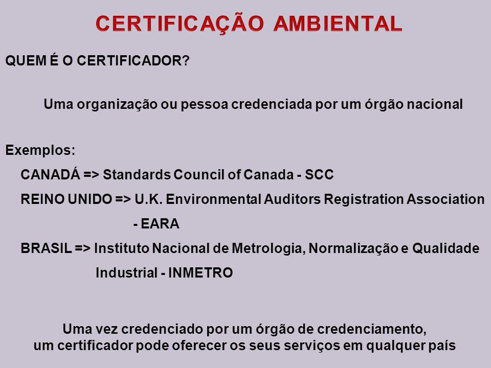 OPÇÕES DA ISO 14.001 AUTODECLARAÇÃO A organização audita seu próprio SGA e declara que ele atende aos requisitos da Norma RECONHECIMENTO DE SEGUNDA PA