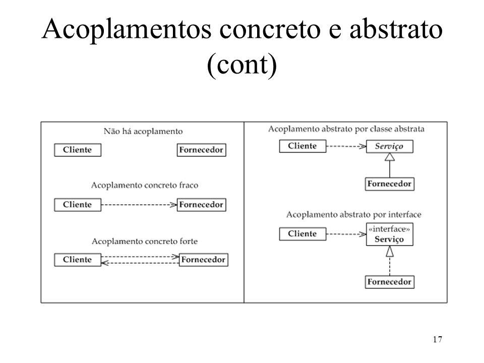 17 Acoplamentos concreto e abstrato (cont)