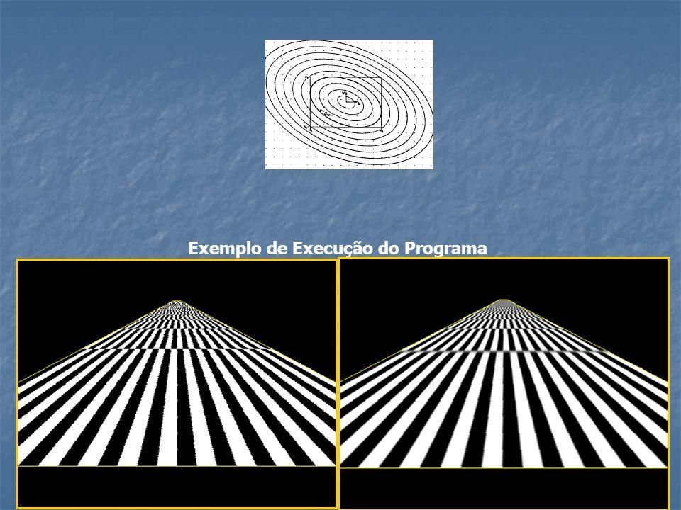 Exemplo de Execução do Programa