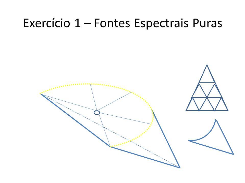 Exercício 1 – Fontes Espectrais Puras