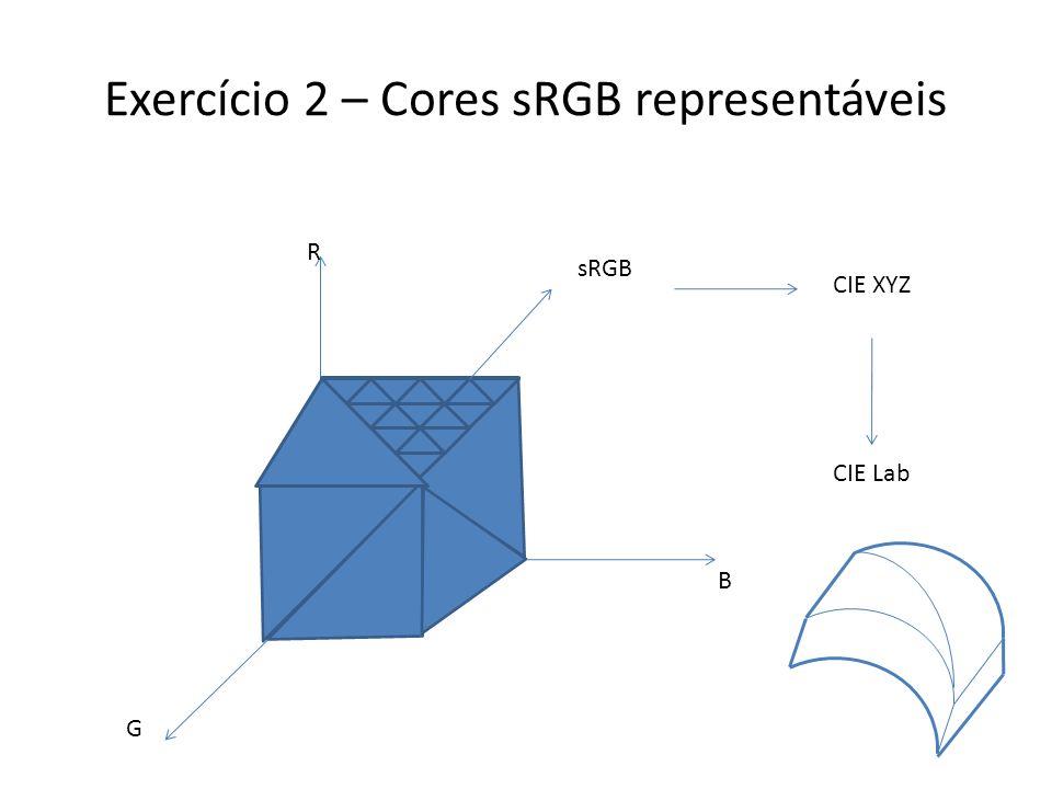 Exercícios 3 e 4 – Gamut Mapping Objetivo: Dado uma nuvem de pontos, extrair sua superfície (casca).