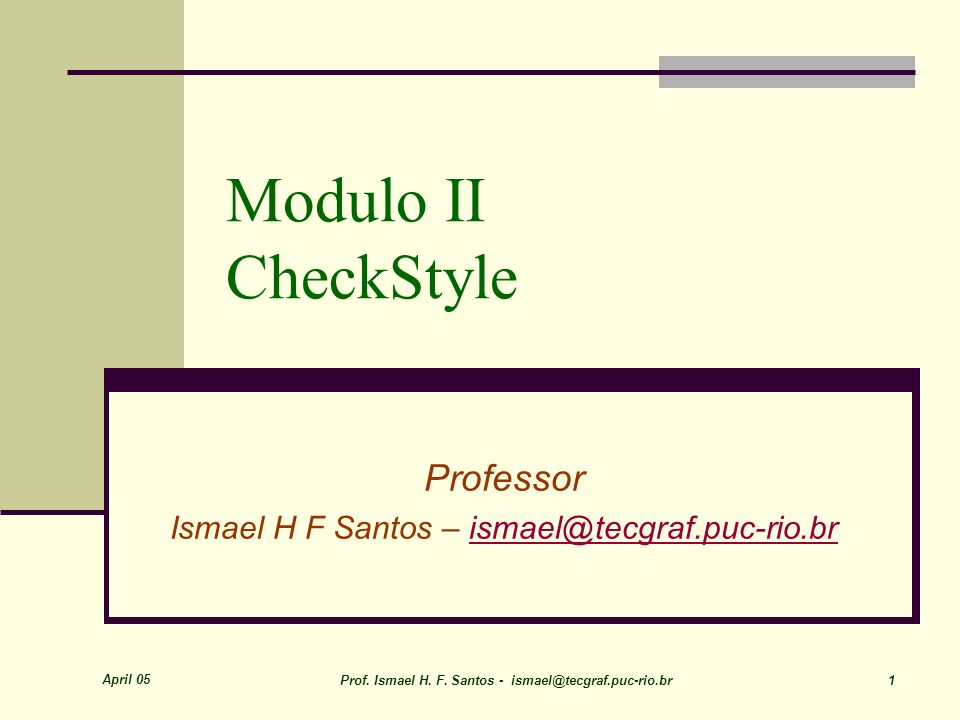 March 09 Prof.Ismael H. F.