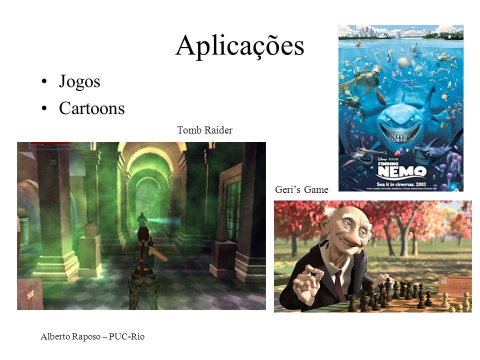 Alberto Raposo – PUC-Rio Aplicações Jogos Cartoons Tomb Raider Geris Game
