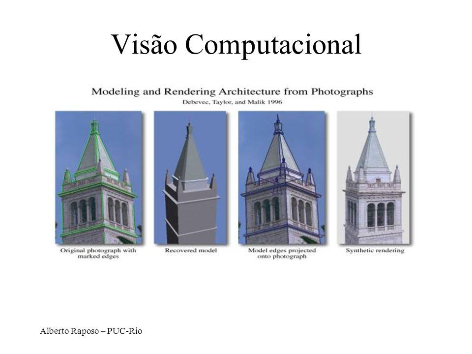Alberto Raposo – PUC-Rio Modelagem Geométrica Trata da representação computacional de formas geométricas, seu tratamento, recuperação de informações e características