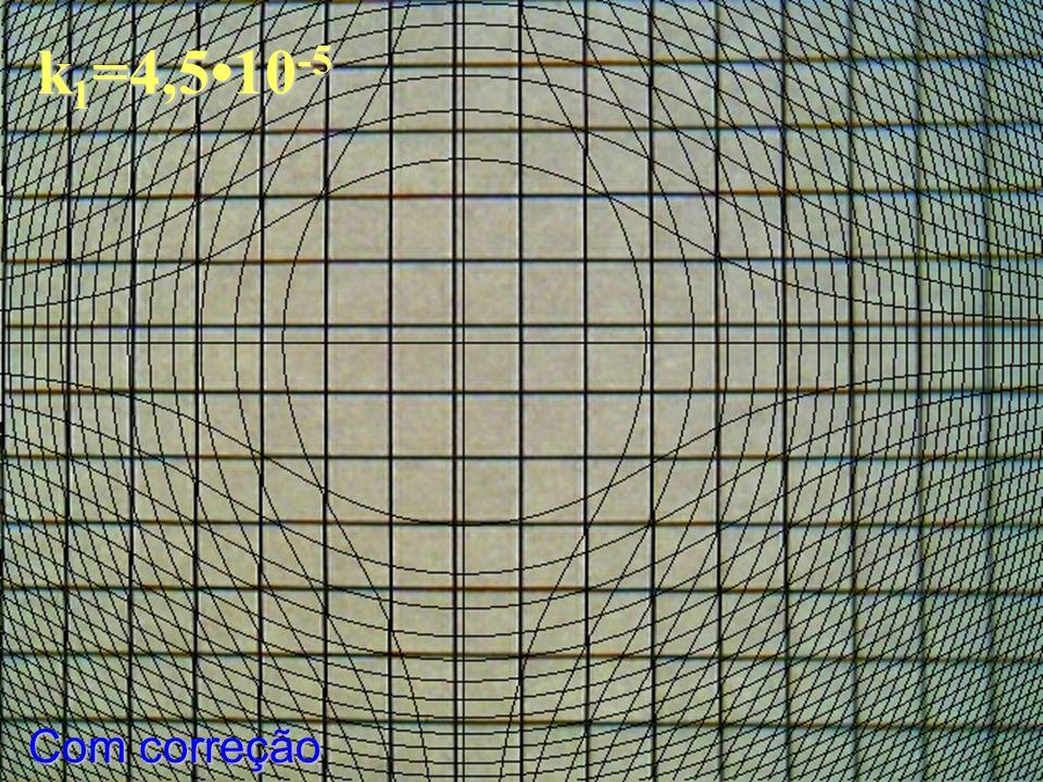 k 1 =4,510 -5 Com correção