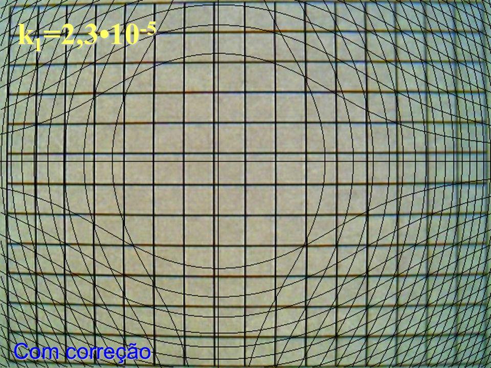 k 1 =2,310 -5 Com correção
