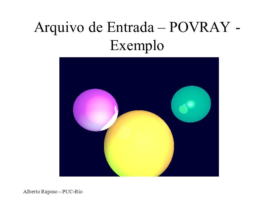 Alberto Raposo – PUC-Rio Arquivo de Entrada – POVRAY - Exemplo