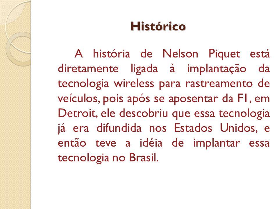 Histórico A história de Nelson Piquet está diretamente ligada à implantação da tecnologia wireless para rastreamento de veículos, pois após se aposent