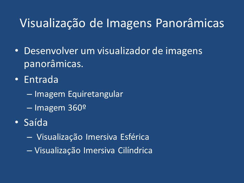 Visualização de Imagens Panorâmicas Desenvolver um visualizador de imagens panorâmicas.