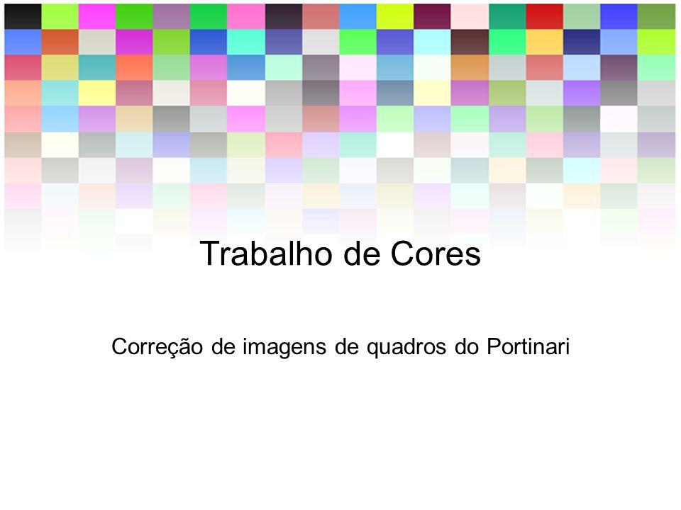 Trabalho de Cores Correção de imagens de quadros do Portinari