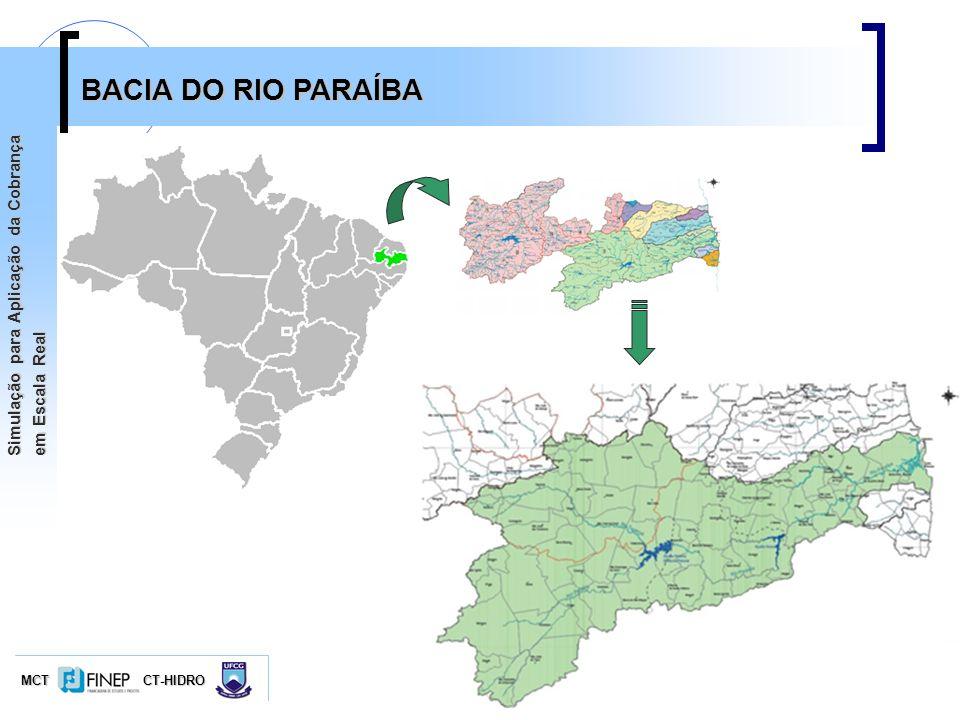 MCTCT-HIDRO Simulação para Aplicação da Cobrança em Escala Real BACIA DO RIO PARAÍBA