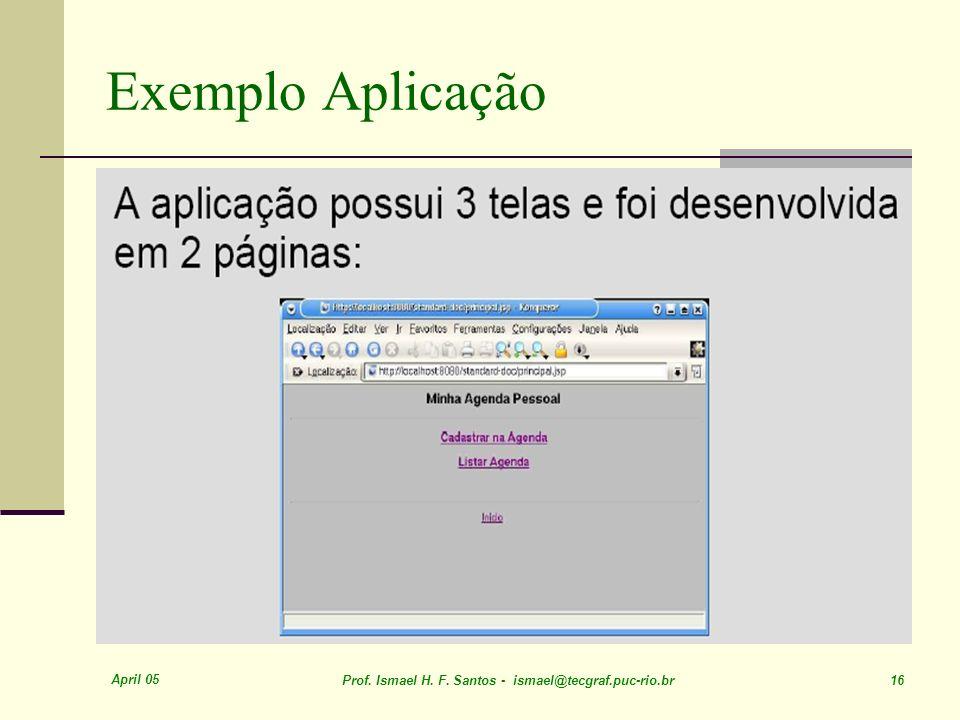 April 05 Prof. Ismael H. F. Santos - ismael@tecgraf.puc-rio.br 16 Exemplo Aplicação