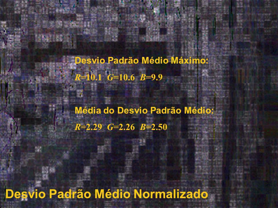 Desvio Padrão Médio Normalizado Desvio Padrão Médio Máximo: R=10.1 G=10.6 B=9.9 Média do Desvio Padrão Médio: R=2.29 G=2.26 B=2.50