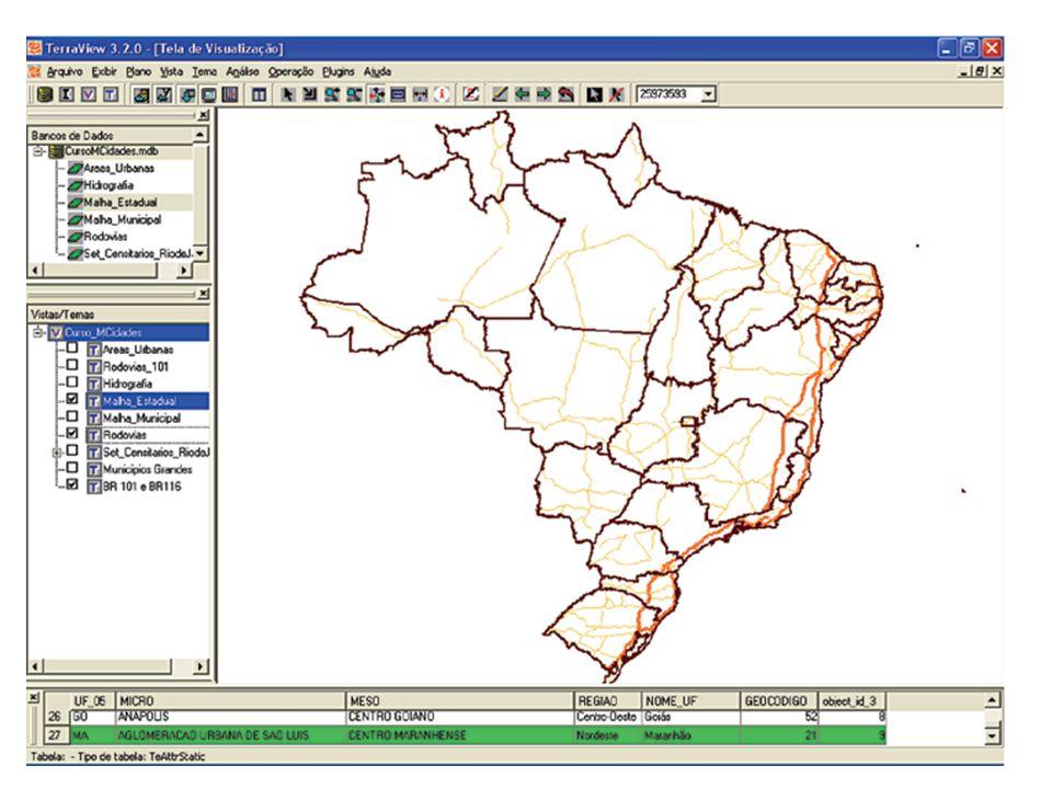 Pode-se escolher um município específico pelo nome e fazer o mapa da região de interesse.