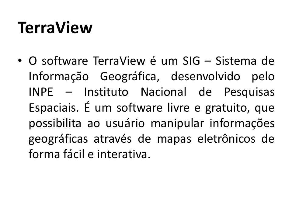 TerraView É oferecido gratuitamente no site do Instituto Nacional de Pesquisas Espaciais (INPE), podendo por isso ser considerado com um software de domínio público, e ser utilizado por qualquer pessoa.