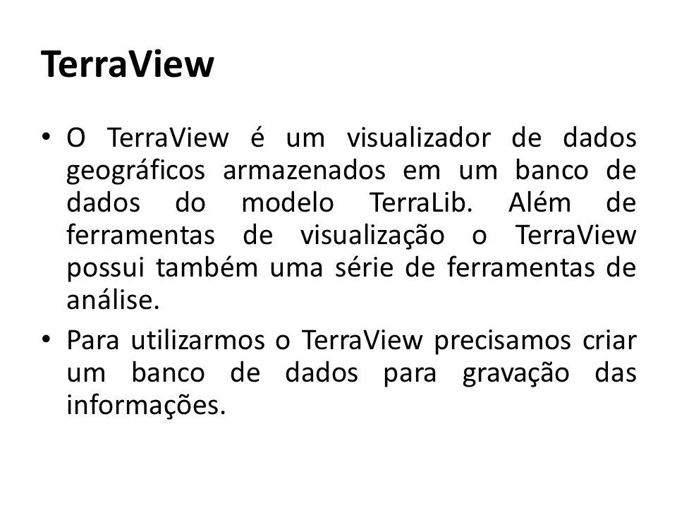 Usando o TerraView: Abra o aplicativo a partir do ícone colocado na tela principal do seu computador.