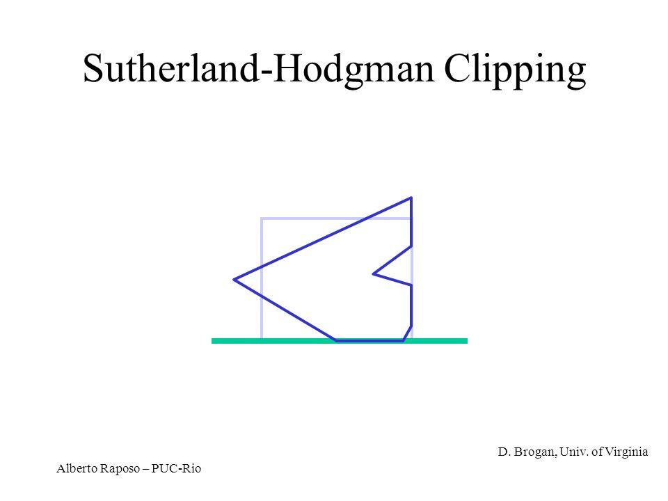 Alberto Raposo – PUC-Rio Sutherland-Hodgman Clipping D. Brogan, Univ. of Virginia