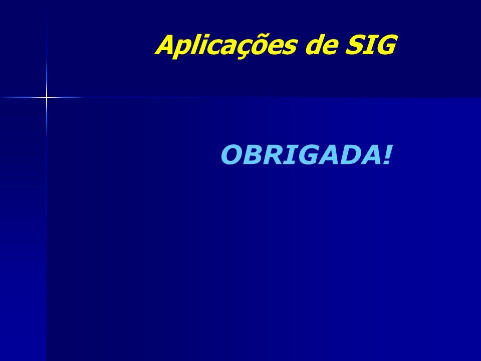 OBRIGADA! Aplicações de SIG