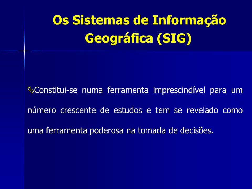 Os Sistemas de Informação Geográfica (SIG) Constitui-se numa ferramenta imprescindível para um número crescente de estudos e tem se revelado como uma