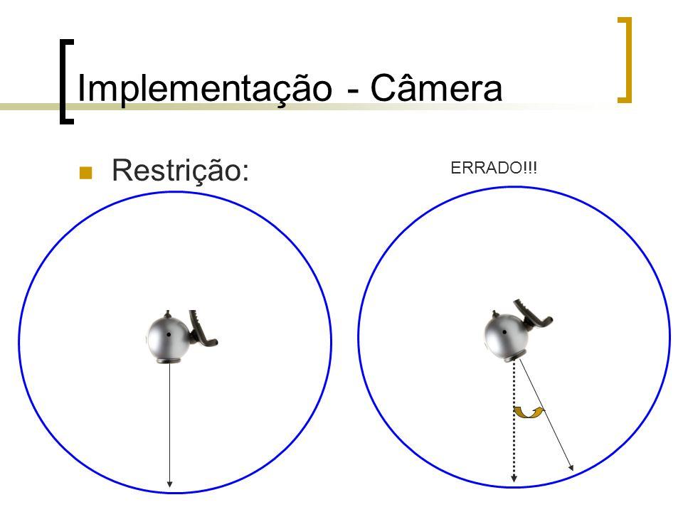 Implementação - Câmera Restrição: ERRADO!!!