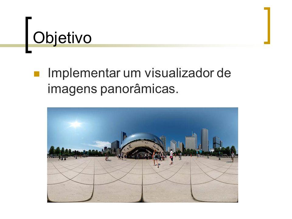 Objetivo Implementar um visualizador de imagens panorâmicas.
