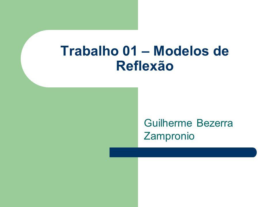 Trabalho 01 – Modelos de Reflexão Guilherme Bezerra Zampronio