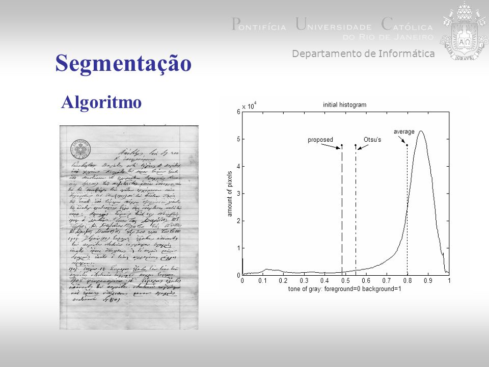 Departamento de Informática Segmentação Algoritmo 1.