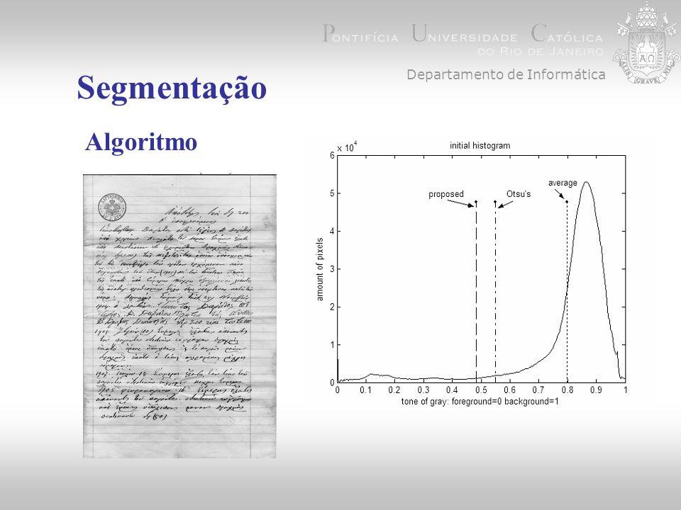 Departamento de Informática Referências Kavallieratou, E.,A binarization algorithm specialized on document images and photos.