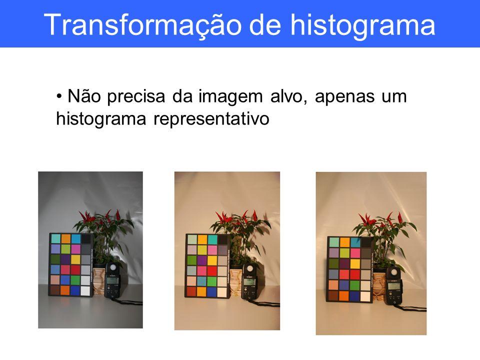 Transformação de histograma Não precisa da imagem alvo, apenas um histograma representativo