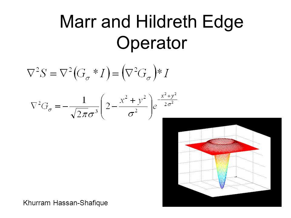 Marr and Hildreth Edge Operator Khurram Hassan-Shafique