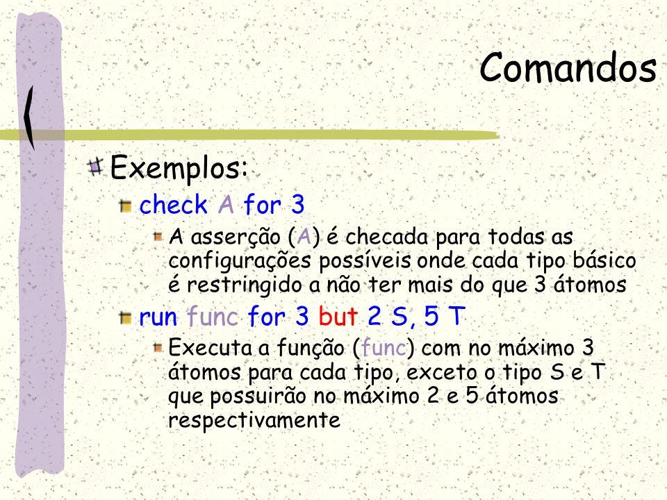 Alloy Analyzer Painel de Edição Painel da Solução Painel com a Sintaxe (Fórmulas) Barra de Status