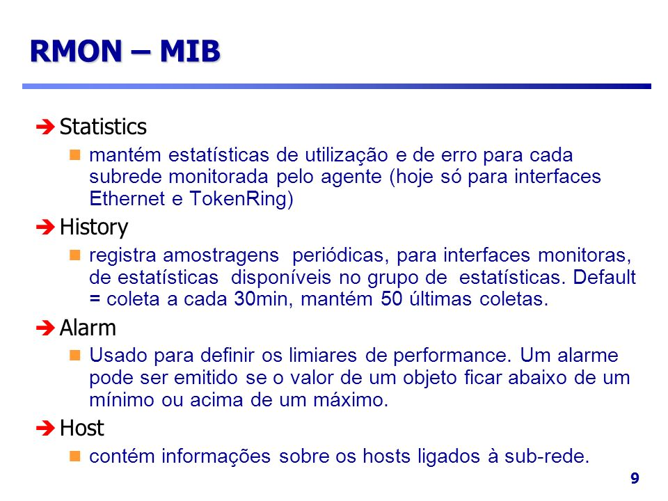 20 Bibliografia SNMP, SNMPv2 and RMON Practical Network Management, 2nd ed.