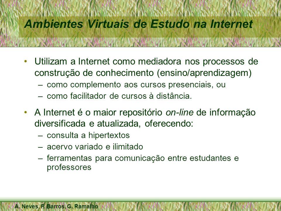 A. Neves, F. Barros, G. Ramalho Ambientes Virtuais de Estudo na Internet Utilizam a Internet como mediadora nos processos de construção de conheciment