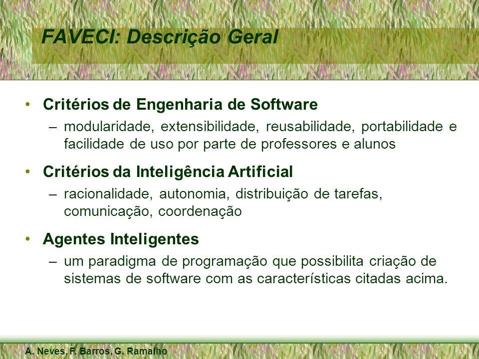 A. Neves, F. Barros, G. Ramalho FAVECI: Descrição Geral Critérios de Engenharia de Software –modularidade, extensibilidade, reusabilidade, portabilida