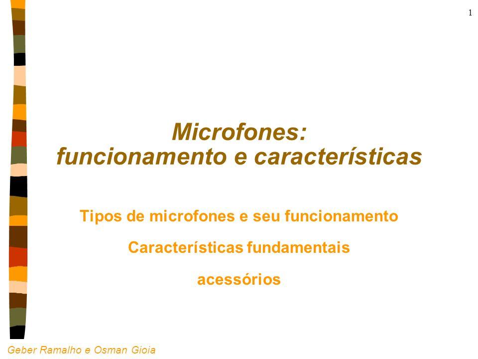 Geber Ramalho e Osman Gioia 1 Microfones: funcionamento e características Tipos de microfones e seu funcionamento Características fundamentais acessór