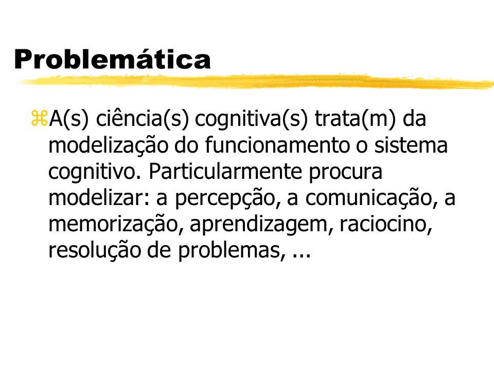 Problemática zA(s) ciência(s) cognitiva(s) trata(m) da modelização do funcionamento o sistema cognitivo. Particularmente procura modelizar: a percepçã
