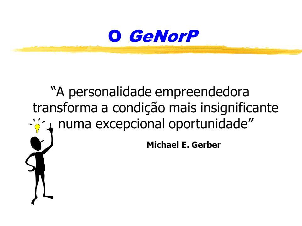 O GeNorP A personalidade empreendedora transforma a condição mais insignificante numa excepcional oportunidade Michael E. Gerber