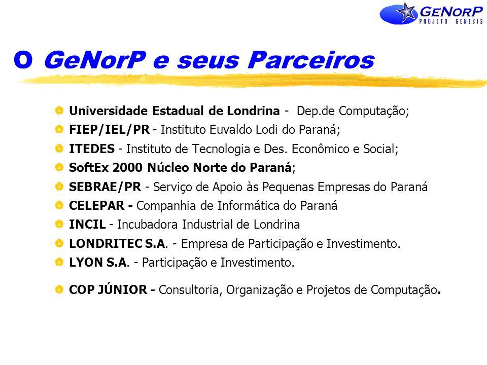 O GeNorP e seus Parceiros Universidade Estadual de Londrina - Dep.de Computação; FIEP/IEL/PR - Instituto Euvaldo Lodi do Paraná; ITEDES - Instituto de