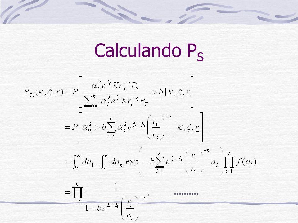 Calculando P S..........